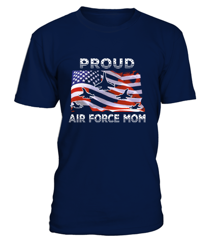 Proud Air Force Mom Flag T-shirts