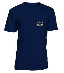 Navy Mom Daughter More Proud Plus T-shirts