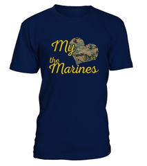 Marine Mom My Heart Camo T-shirts