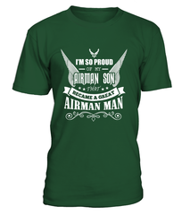 Air Force Mom - Became A Great Man T-shirts