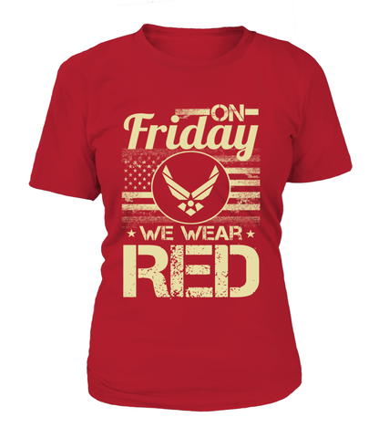 Air Force Mom We Wear RED T-shirts