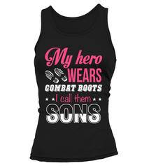 Military Mom Hero Combat Boots Sons T-shirts