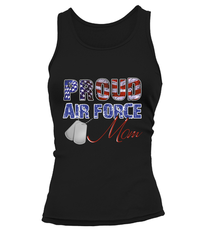 Proud Air Force Mom Distress T-shirts