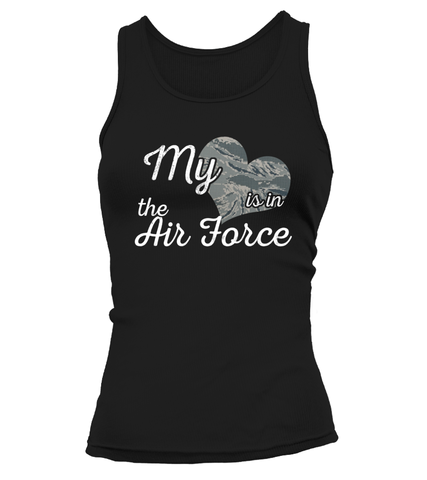 Air Force Mom My Heart Camo T-shirts - MotherProud