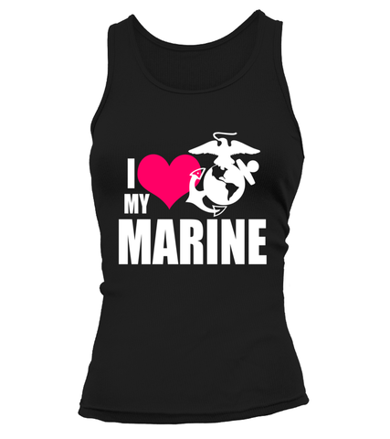 Marine Mom I Love My Marine T-shirts