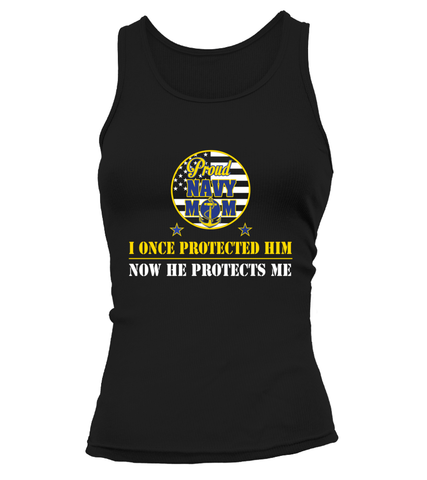 Navy Mom Once Protected T-shirts