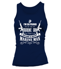Marine Mom - Became A Great Man T-shirts