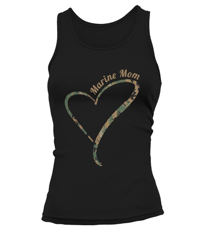 Marine Mom Camo Heart T-shirts
