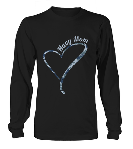 Navy Mom Camo Heart T-shirts