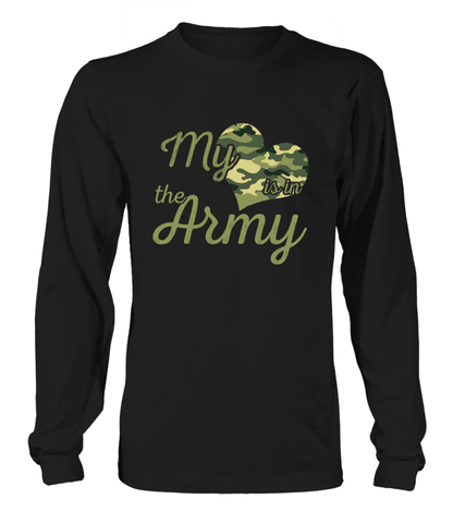 Army Mom My Heart Camo T-shirts