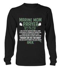 Marine Mom Prayer Daughter T-shirts