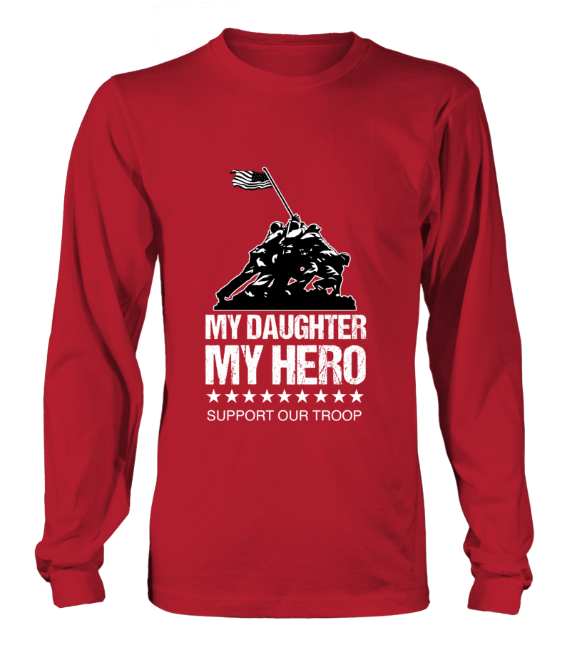 Red Friday My Daughter My Hero T Shirts Motherproud