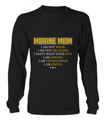Marine Mom I Am Proud T-shirts