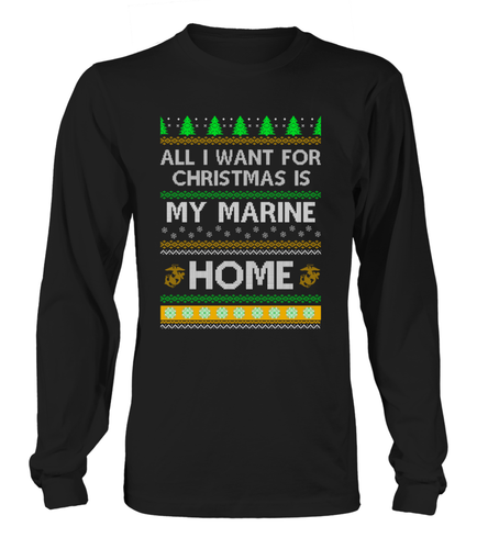 Marine Mom Christmas Home T-shirts