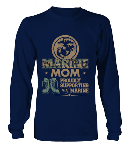 Marine Mom Proudly Camo T-shirts
