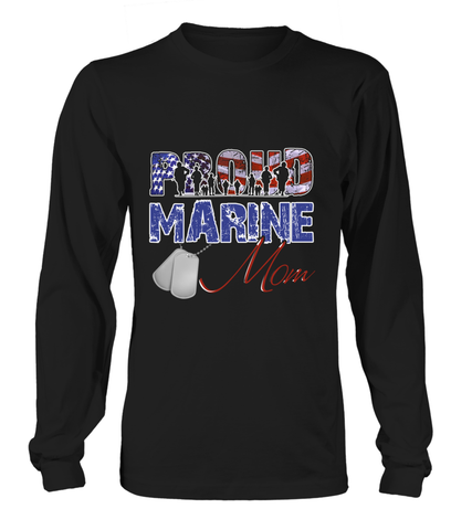 Proud Marine Mom Distress T-shirts