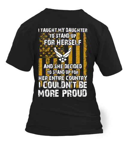 Proud Air Force Mom Daughter Couldn't Be T-shirts