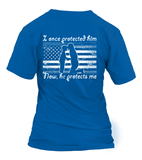 Marine Mom Once Protected Flag T-shirts