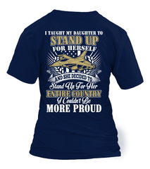 Air Force Mom Daughter More Proud Plus T-shirts