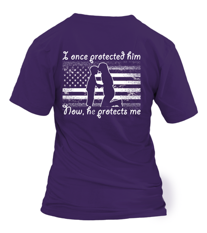 Proud Navy Mom Once Protected Him Flag T-shirts