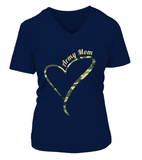 Army Mom Camo Heart T-shirts - MotherProud
