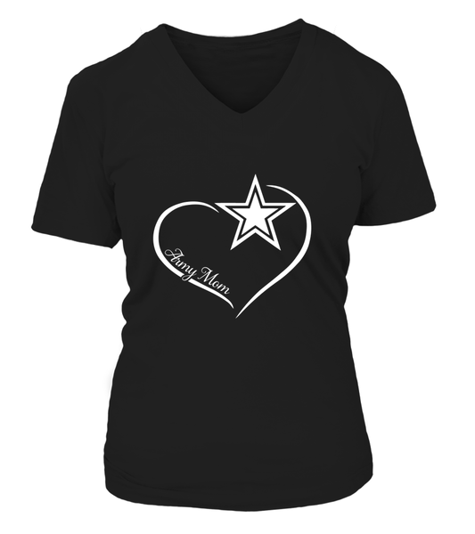 Proud Army Mom Shape of Love T-shirts Plus