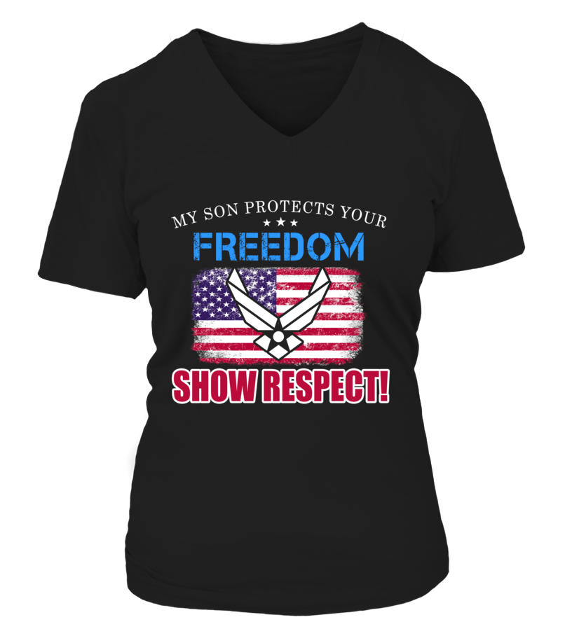 Air Force Mom Show Respect T-shirts - MotherProud