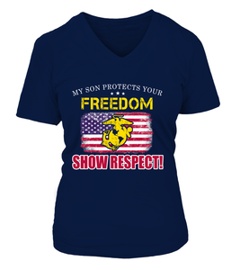 Marine Mom Show Respect T-shirts