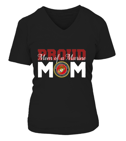 Proud Mom of Marine T-shirts