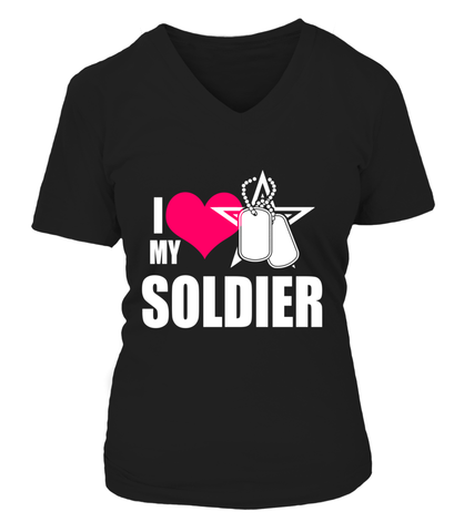 Army Mom I Love My Soldier T-shirts