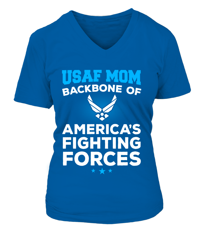 Air Force Mom Backbone T-shirts - MotherProud