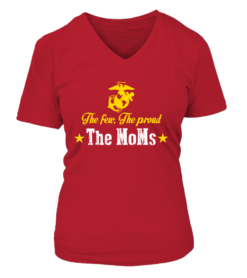Marine Mom The Few The Proud The MoMs T-shirts Gifts