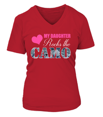 Navy Mom Daughter Rocks Camo T-shirts