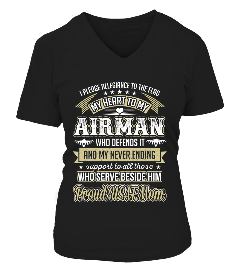 Air Force Mom Pledge Allegiance T-shirts - MotherProud