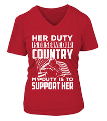 Military Mom Her Duty Daughter T-shirts