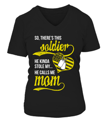 Army Mom Stole My Heart T-shirts