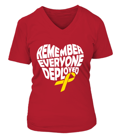 Remember Everyone Deployed Heart T-shirts