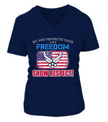 Air Force Mom Show Respect T-shirts