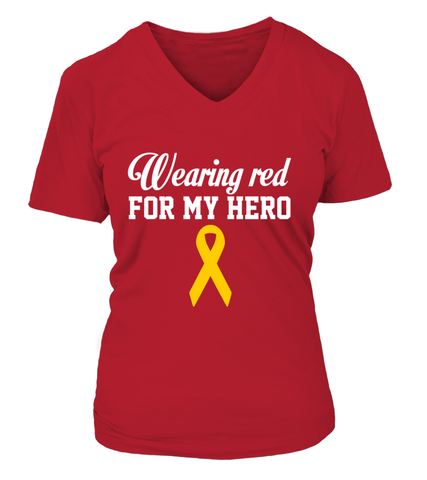 Wearing RED For My Hero T-shirts