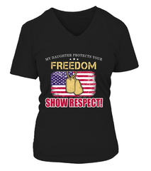 Army Mom Daughter Show Respect T-shirts