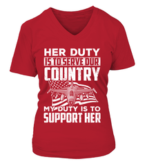 Air Force Mom Her Duty Daughter T-shirts