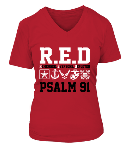 Red Friday PSALM 91 T-shirts