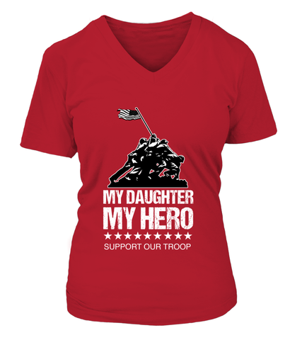 Red Friday My Daughter My Hero T-shirts