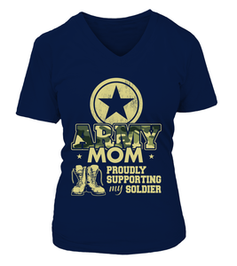 Army Mom Proudly Camo T-shirts