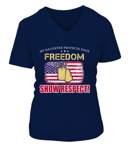 Army Mom Daughter Show Respect T-shirts - MotherProud
