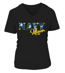 Navy Mom Camo T-shirts
