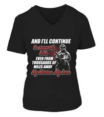 Marine Mom Thousands Of Miles T-shirts
