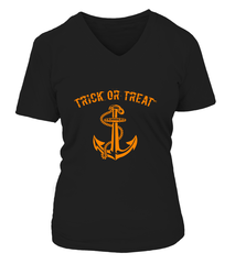 Navy Halloween Trick Or Treat T-shirts