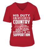 Air Force Mom His Duty T-shirts - MotherProud