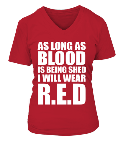 Red Friday Blood Being Shed T-shirts